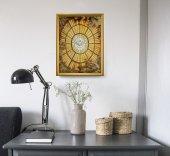 """Immagine di 'Quadro """"Colomba dello Spirito Santo"""" con lamina oro e cornice dorata - dimensioni 44x34 cm'"""