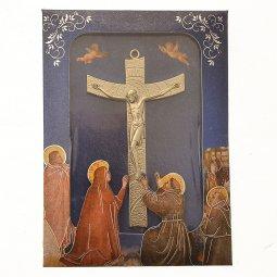 Copertina di 'Croce in metallo con confezione - dimensioni 8x4,5 cm'