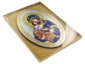 Immagine di 'Icona Madonna della tenerezza stampa su legno ovale - 20 x 30 cm'