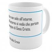 "SpiriTazza ""L'immagine di Gesù Cristo"" (San Paolo della Croce) - Bordo azzurro - San Paolo della Croce"