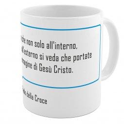 """Copertina di 'SpiriTazza """"L'immagine di Gesù Cristo"""" (San Paolo della Croce) - Bordo azzurro'"""