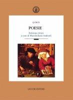 Poesie - . Quiros, Massimiliano Andreoli