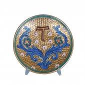 """Patena in ceramica simbolo TAU """"Modello Bizantino"""" - 15 cm"""