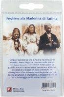 Immagine di 'Medaglia Madonna di Fatima con laccio e preghiera in italiano'