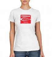 """T-shirt """"Iesoûs"""" targa con pesce - taglia M - donna"""