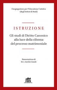 Copertina di 'Istruzione. Gli studi di Diritto Canonico alla luce della riforma del processo matrimoniale'
