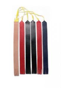 Copertina di 'Segnalibro 5 nistole in pelle e 1 in cuoio per nuovo messale edizione 2020 - dimensioni 25x2,5 cm'