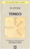 Timeo. Testo greco a fronte - Platone