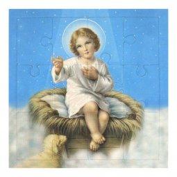 """Copertina di 'Mini puzzle """"Gesù bambino"""" - 12 pezzi'"""