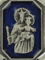 Immagine di 'Portachiavi Madonna Ausiliatrice tipo pergamena in metallo nichelato'