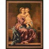 """Arazzo """"Madonna del Rosario"""" (65cm x 53cm) - Murillo"""