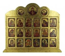 Copertina di 'Icona 19 Madonne e Angeli, produzione greca su legno - 42 x 36,5 cm'