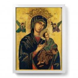 """Copertina di 'Quadro """"Madonna del Perpetuo Soccorso"""" con lamina oro e cornice minimal- dimensioni 44x34 cm'"""