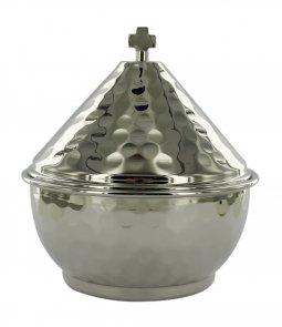 Copertina di 'Navetta per turibolo in metallo nichelato - dimensioni 10x10,5 cm'