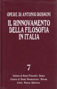 Copertina di 'Il rinnovamento della filosofia in Italia tomo 2'