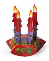 Confezione componibile in cartoncino con corona e candele dell'Avvento