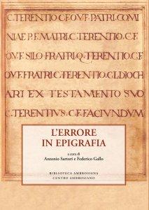 Copertina di 'Errore in epigrafia. (L')'