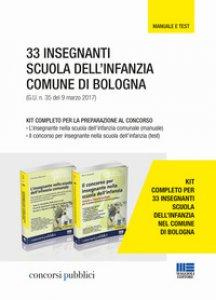Copertina di '33 insegnanti scuola dell'infanzia Comune di Bologna. Kit completo per la preparazione al concorso'