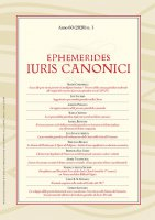 Ephemerides Iuris Canonici - Anno 2020 - n. 1. - VV. AA.