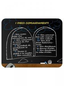 """Copertina di 'Mousepad """"I dieci comandamenti"""" (tavole della legge)'"""