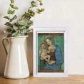 """Immagine di 'Quadretto """"Madonna del Pinturicchio"""" con passe-partout e cornice minimal - dimensioni 15x10 cm'"""