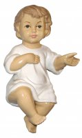 Gesù Bambino in ceramica lucida, 13 cm