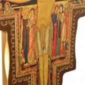Immagine di 'Croce di San Damiano in legno con base - dimensioni 80x56 cm'