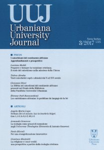 Copertina di 'Urbaniana University Journal. Euntes Docete'