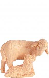 Copertina di 'Pecora con agnello T.K. - Demetz - Deur - Statua in legno dipinta a mano. Altezza pari a 12 cm.'