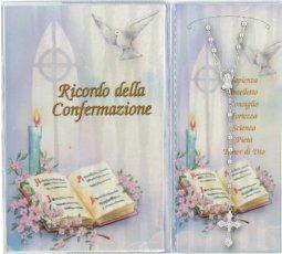 Copertina di 'Libretto ricordo della Cresima con rosario'