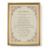 """Quadro con preghiera """"La sera della vita"""" su cornice dorata - dimensioni 44x34 cm - Lancelot Andrewes"""