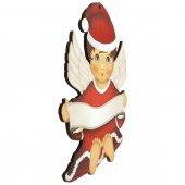 Immagine di 'Angelo custode vestito da Babbo Natale - dimensioni 14x11 cm'