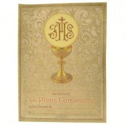"Copertina di 'Pergamena grande ""calice e scritta IHS"" - dimensioni 24x18 cm (10 pezzi)'"