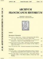 Sancti Isidori Visitatio Apostolica (1663). I Frati Minori irlandesi a Roma dopo Luke Wadding  (609-630) - Donatella Bellardini - Claudia Costacurta