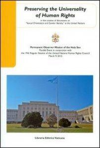 Copertina di 'Preserving the universality of human rights'