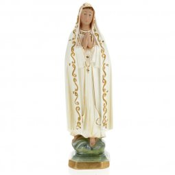Copertina di 'Statua in gesso madreperlato Madonna di Fatima dipinta a mano - cm 30'