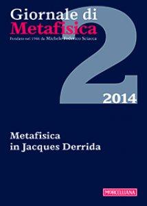 Copertina di 'Giornale di metafisica. 1/2014'