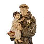 """Immagine di 'Statua sacra in resina colorata dipinta a mano """"Sant'Antonio di Padova"""" - altezza 50 cm'"""