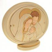"""Ovale in resina """"Sacra Famiglia"""" - dimensioni 20,5x17 cm"""