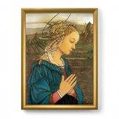 """Quadro """"Lippina"""" con lamina oro e cornice dorata - dimensioni 44x34 cm - Filippo Lippi"""