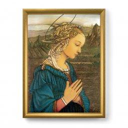 """Copertina di 'Quadro """"Lippina"""" con lamina oro e cornice dorata - dimensioni 44x34 cm'"""