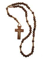 Rosario francescano piccolo in legno