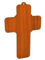 Immagine di 'Croce in legno con immagine di Papa Francesco - dimensioni 13x9 cm'