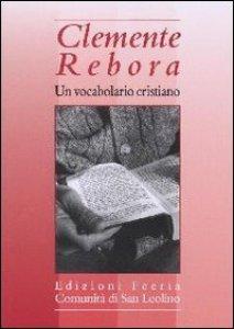 Copertina di 'Un vocabolario cristiano'
