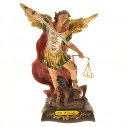"Copertina di 'Statua in resina colorata ""San Michele arcangelo"" - altezza 20 cm'"