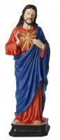 """Statua in resina colorata """"Sacro Cuore di Gesù"""" - altezza 20 cm"""
