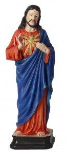 "Copertina di 'Statua in resina colorata ""Sacro Cuore di Gesù"" - altezza 20 cm'"