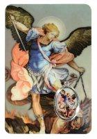 Card San Michele Arcangelo in PVC - misura 5,5 x 8,5 cm - inglese