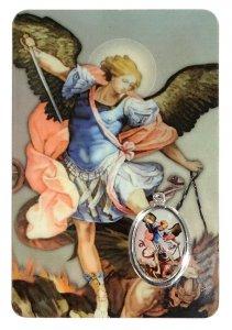 Copertina di 'Card San Michele Arcangelo in PVC - misura 5,5 x 8,5 cm - inglese'