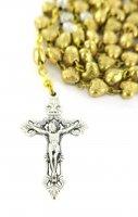 Immagine di 'Rosario in metallo dorato da Ø 5,5 mm'